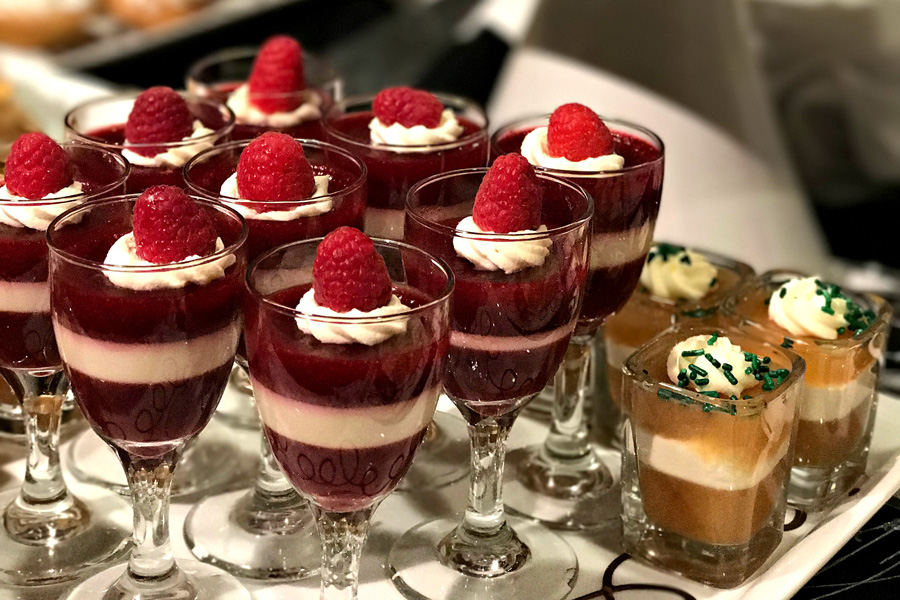 raspberry desert parfaits