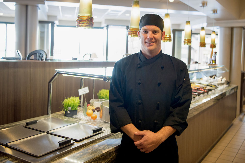 chef russell seaman at dockside restaurant 2